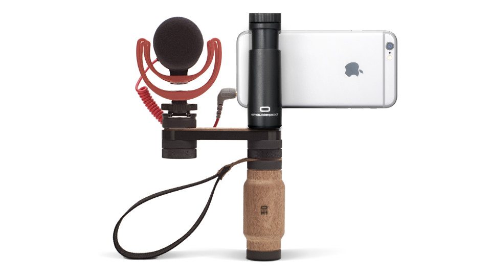 Shoulderpod R2 iPhone handle rig microphone