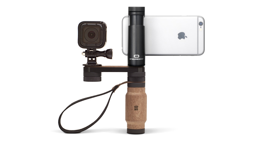 Shoulderpod R2 iPhone handle rig GoPro