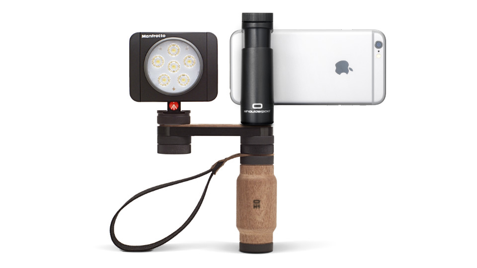 Shoulderpod R2 Handle Rig iphone light