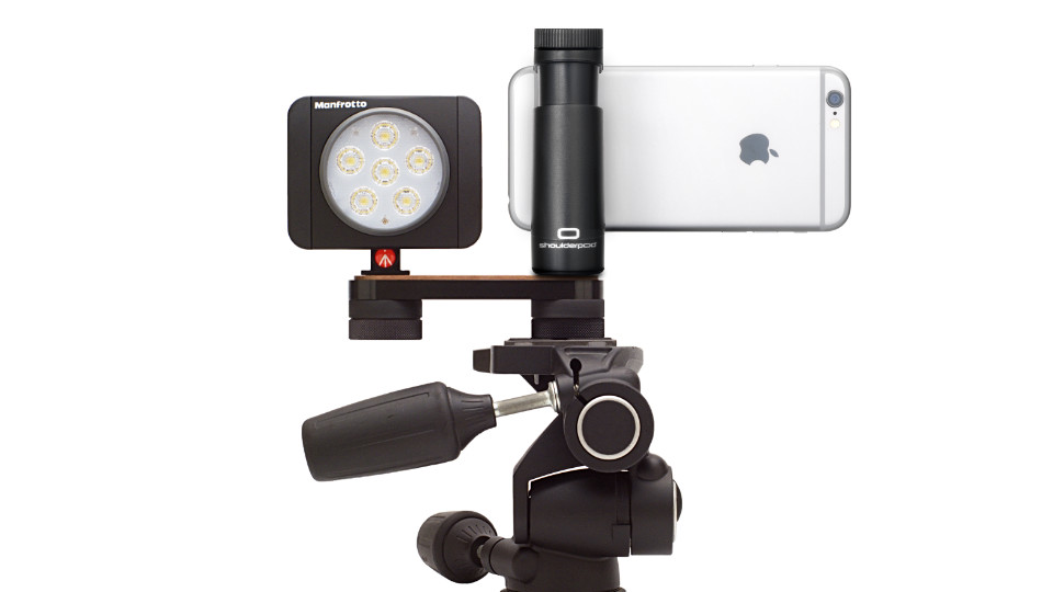Shoulderpod R2 Tripod Rig iphone light