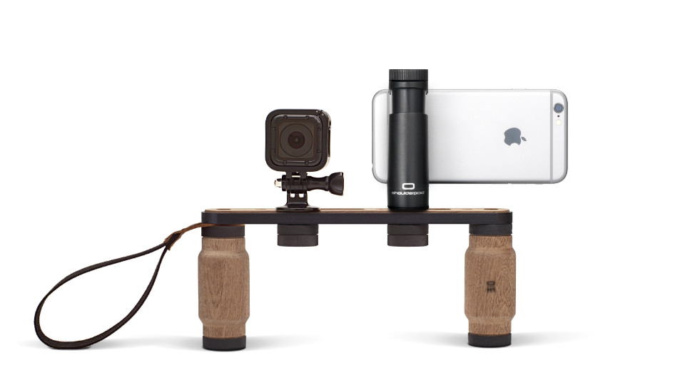 Shoulderpod X1 rig for iPhone gopro