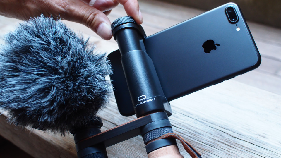Shoulderpod R2 iphone rig external microphone