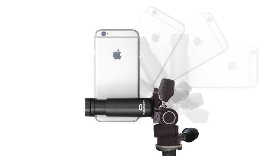 Shoulderpod G1 - vertical portrait mode - tripod mount adapter for iPhone