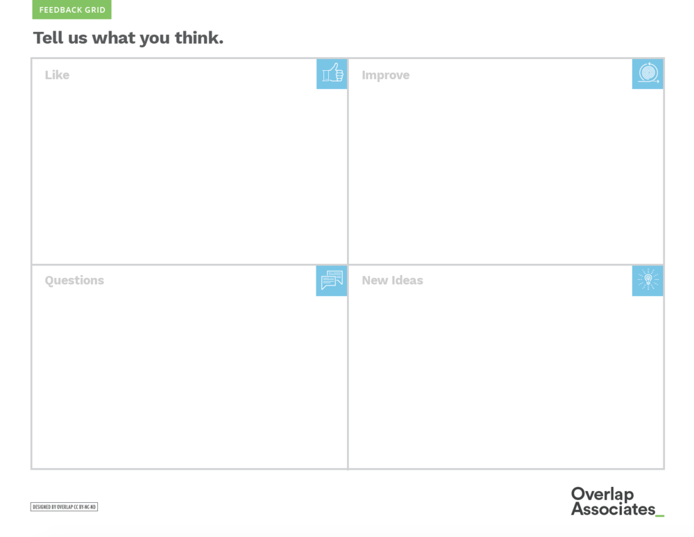 This is the feedback grid.