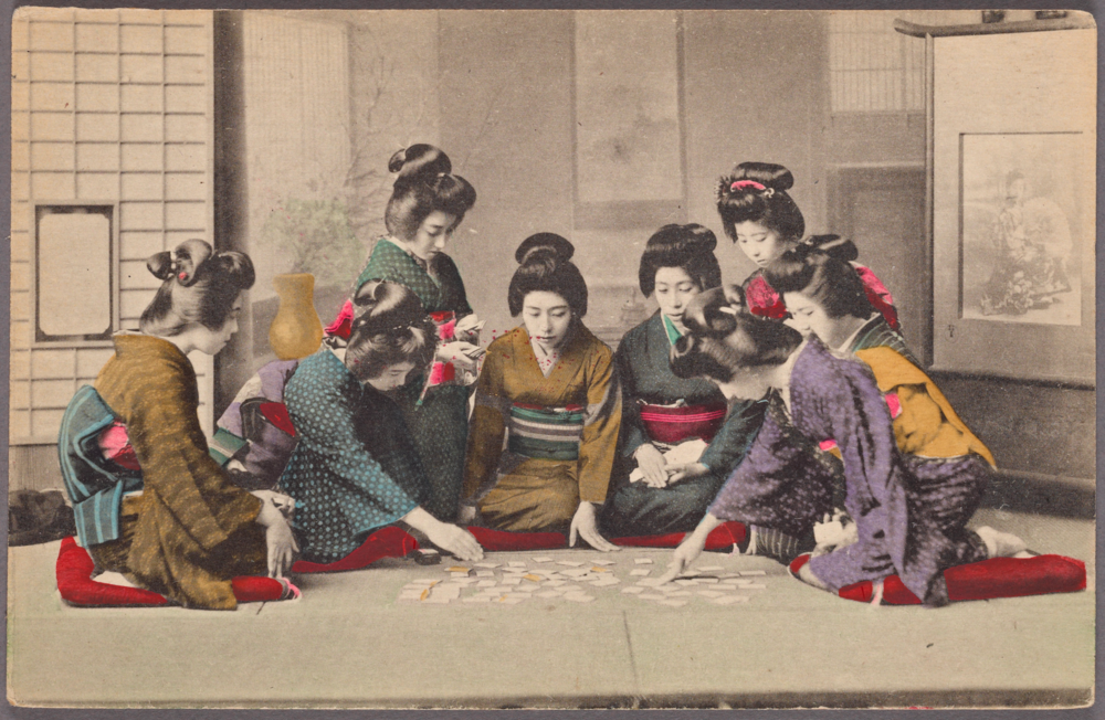 Girls Playing Uta-garuta, NYPL