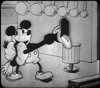 Still from the famous Turkey in the Straw sequence in  Steamboat Willie .