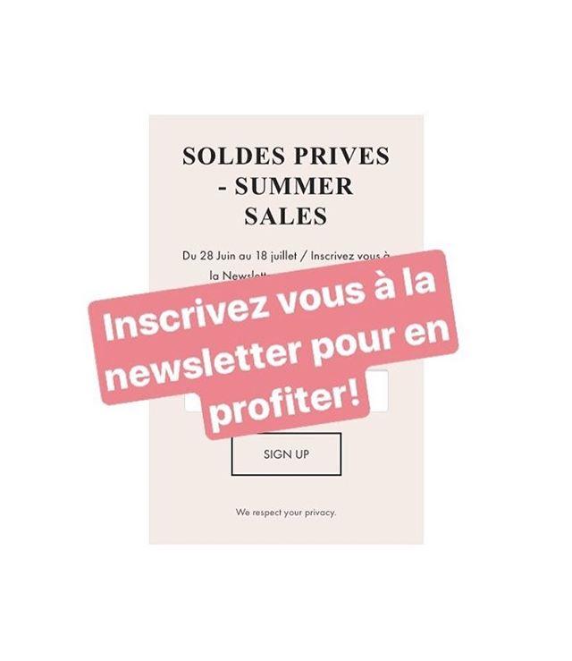 👉 Soldes privés / code de réductions / inscription newsletter 👈