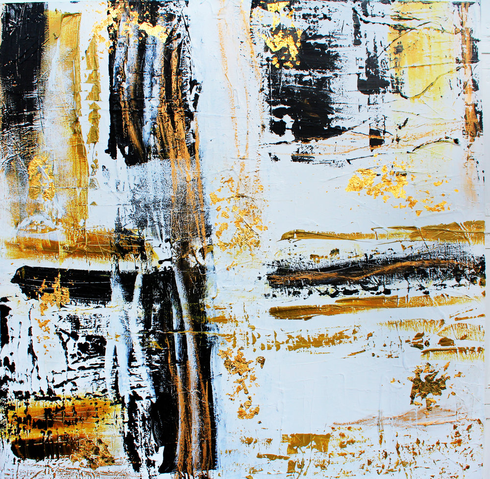 paris series no. 2 / acrylic on canvas and gold leaf / 60 in. x 60 in.