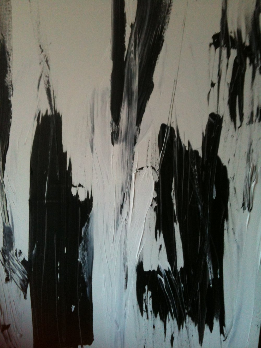 black and white series no. 1 / acrylic on canvas / 48 in. x 36 in.