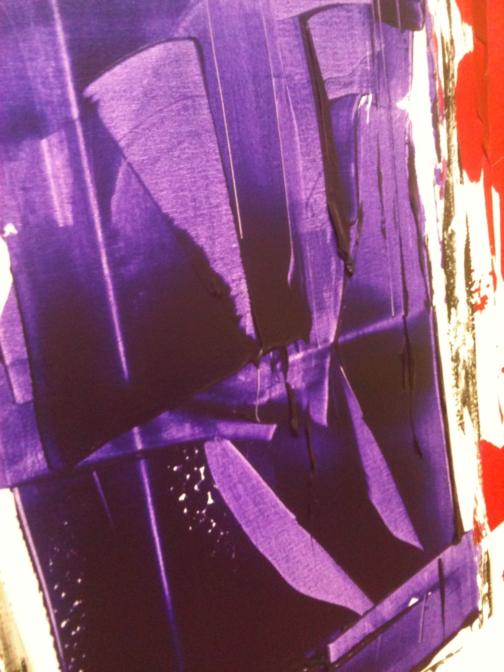 impetus series - detail / acrylic on canvas / 60 in. x 60 in.