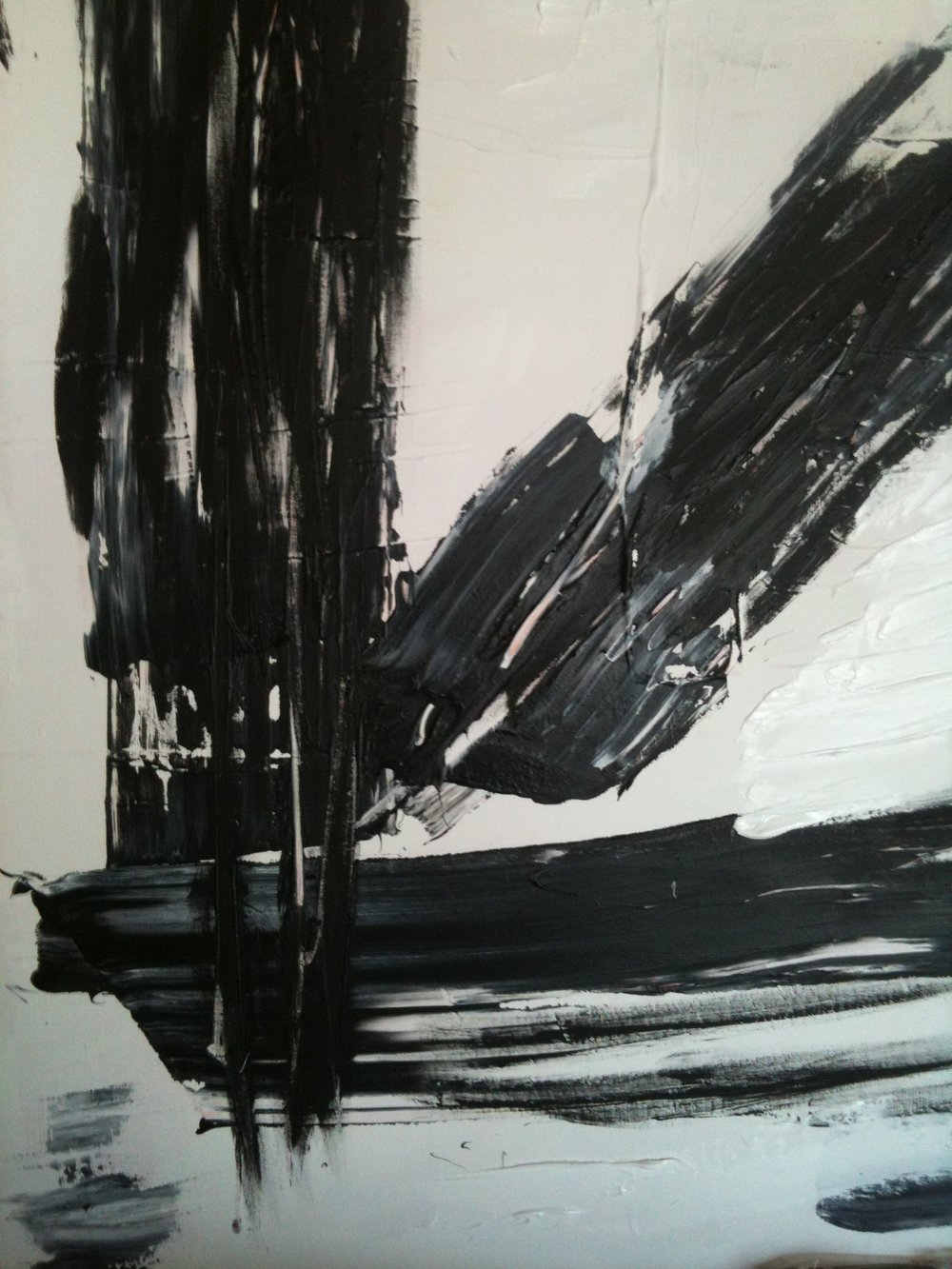 black series no. 1 / acrylic on canvas / 40 in. x 32 in.