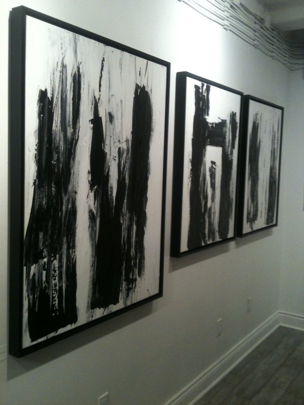 black and white series no.. 1 / acrylic on canvas / 48 in. x 36 in.