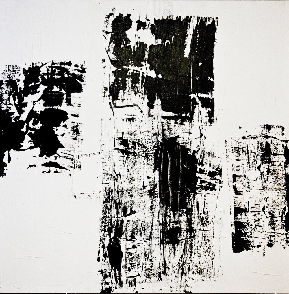 black and white series no. 3 / acrylic on canvas / 72 in. x 48 in.