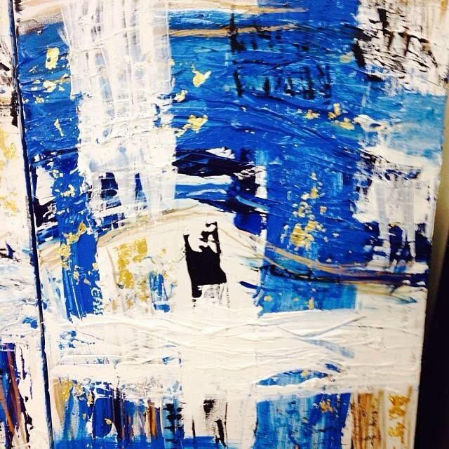blue is blue series / acrylic on canvas / 48 in. x 36 in.