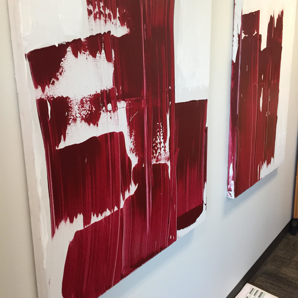 lucky stripe series / acrylic on canvas / 48 in. x 36 in.