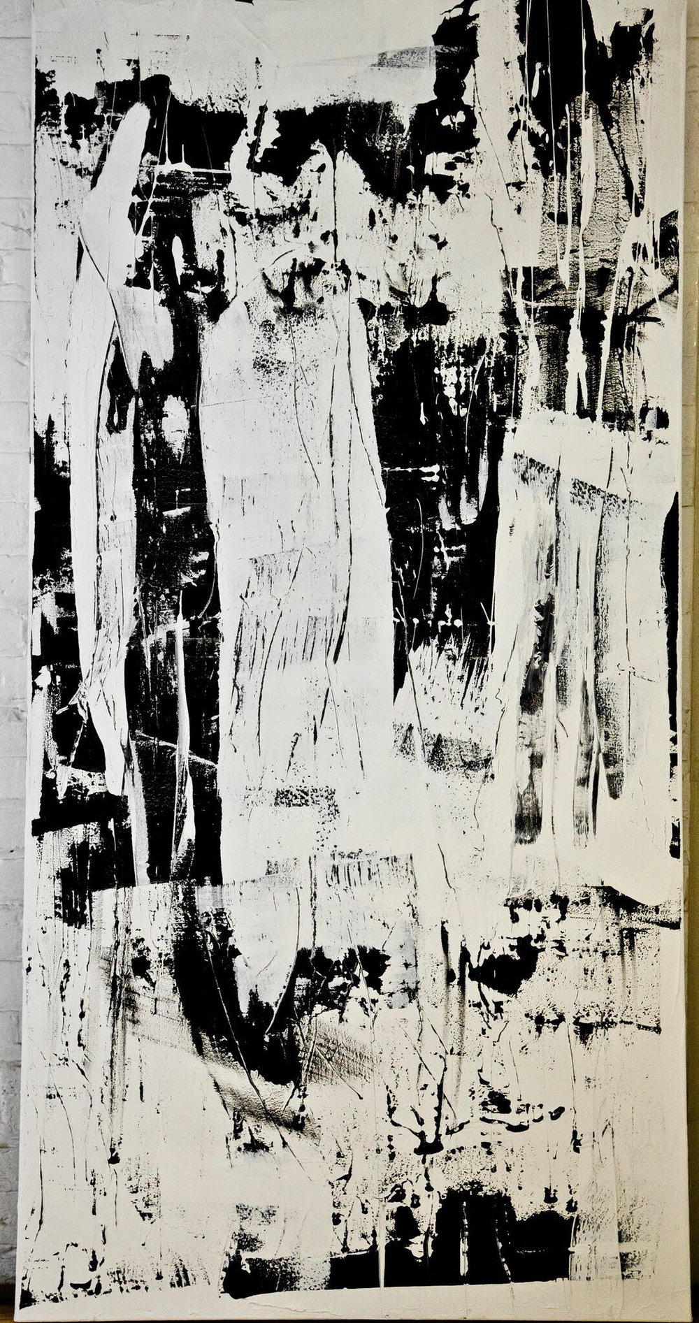 black and white series no. 2 / acrylic on canvas / 60 in. x 24 in.