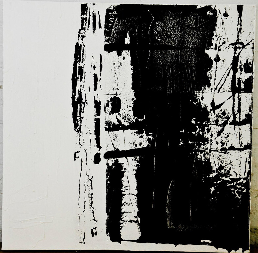 black and white series no. 3 / acrylic on canvas / 36 in. x 36 in.