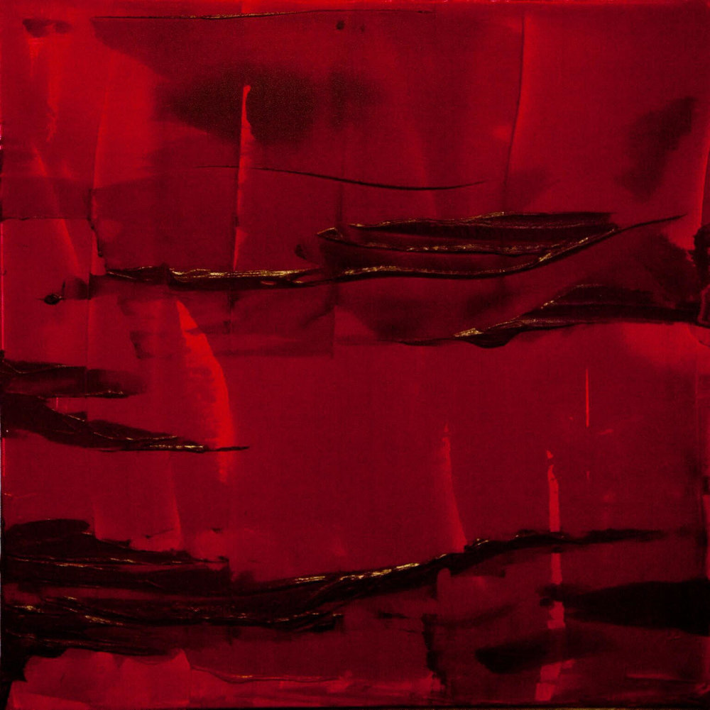 red on red / acrylic on canvas / 36 in. x 36 in.