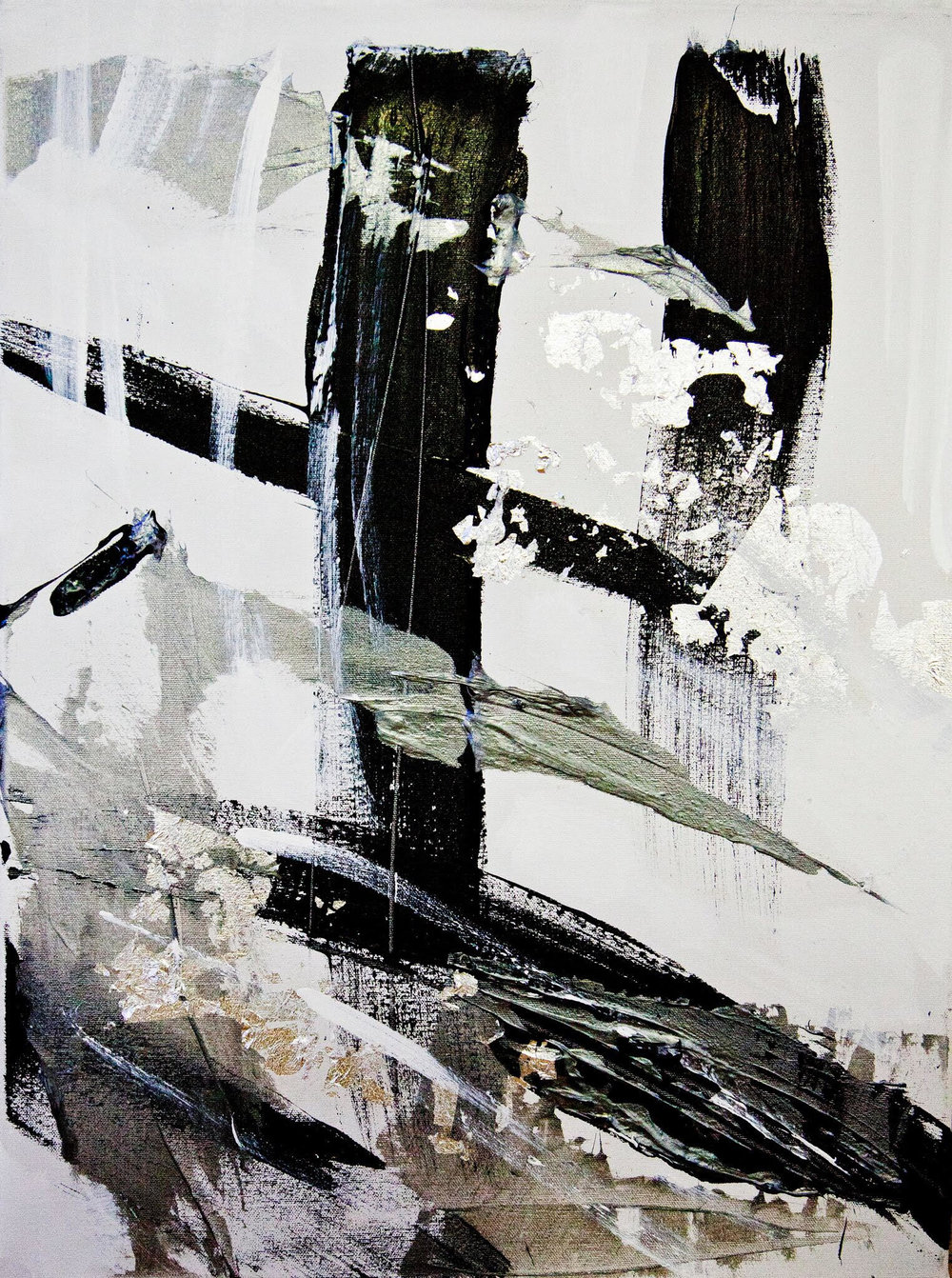 black and white series no. 1 / acrylic on canvas / 30 in. x 20 in.