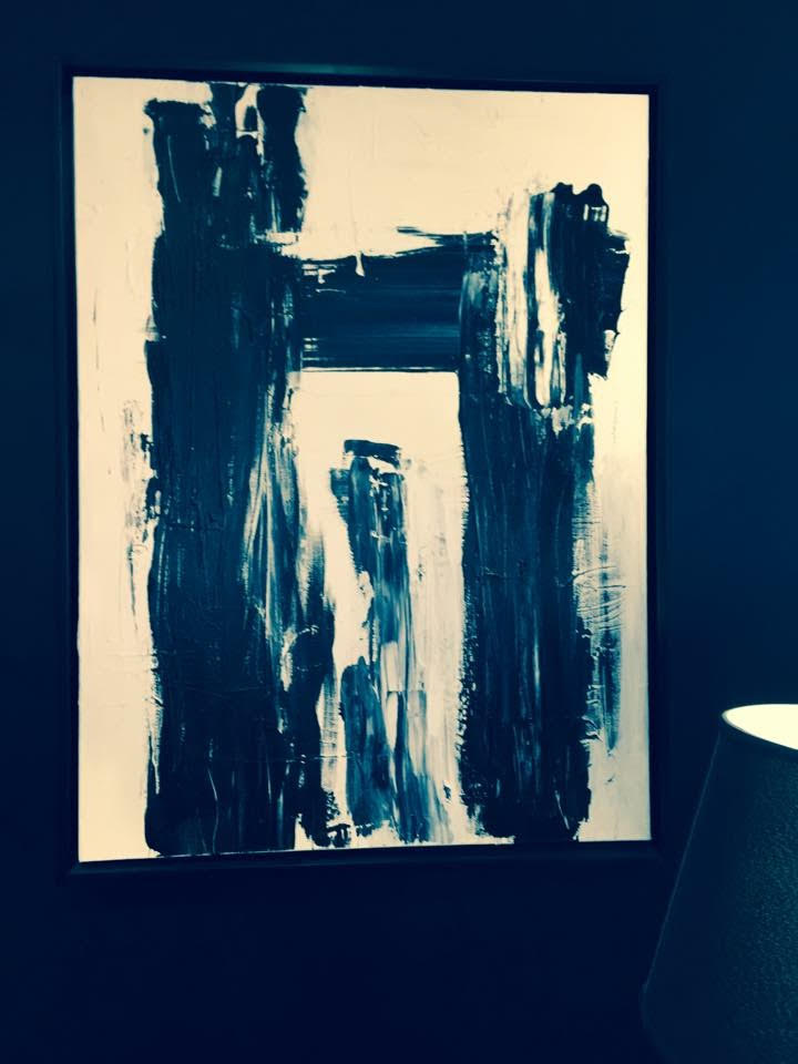 black and white series no. 1 / acrylic on canvas / 40 in. x 30 in.