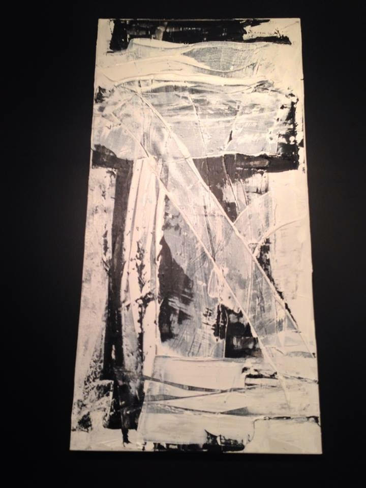 black and white series no. 2 / acrylic on canvas / 48 in. x 24 in.