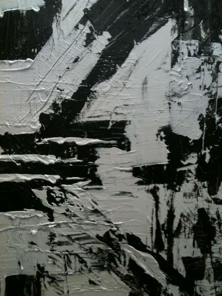 black and white series no. 2 / acrylic on canvas / 84 in. x 48 in.