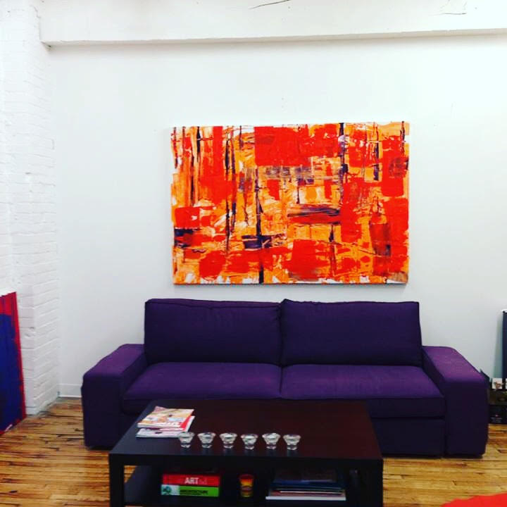 impetus series / acrylic on canvas / 36 in. x 72 in.