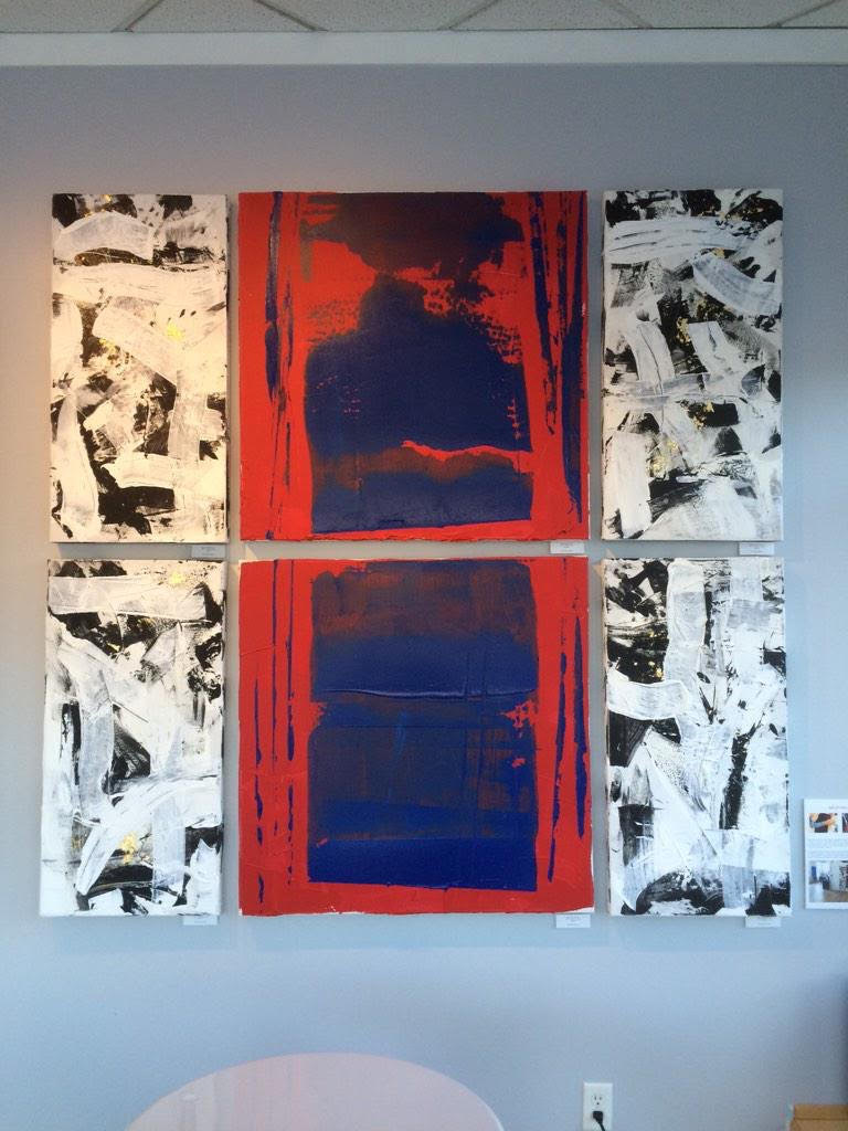 impetus series / acrylic on canvas / 36 in. x 36 in., 36 in. x 20 in.