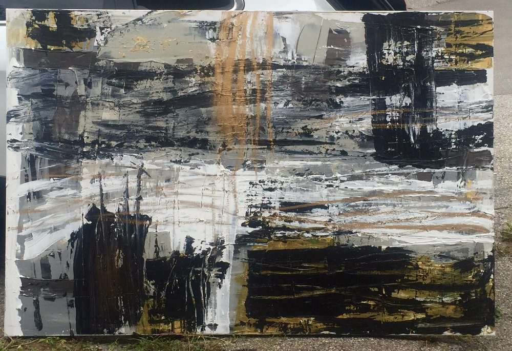 paris series no. 1 / acrylic on canvas / 72 in. x 48 in.