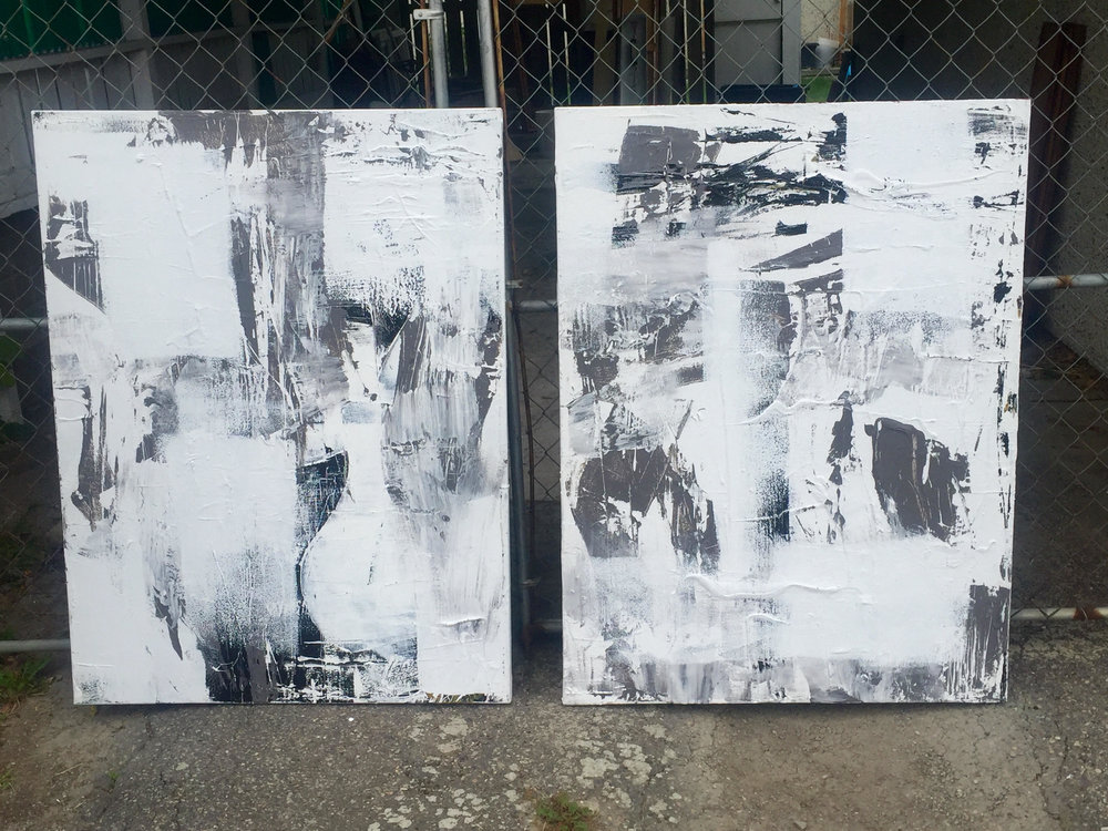 black and white series no. 3 / acrylic on canvas / 48 in. x 36 in.
