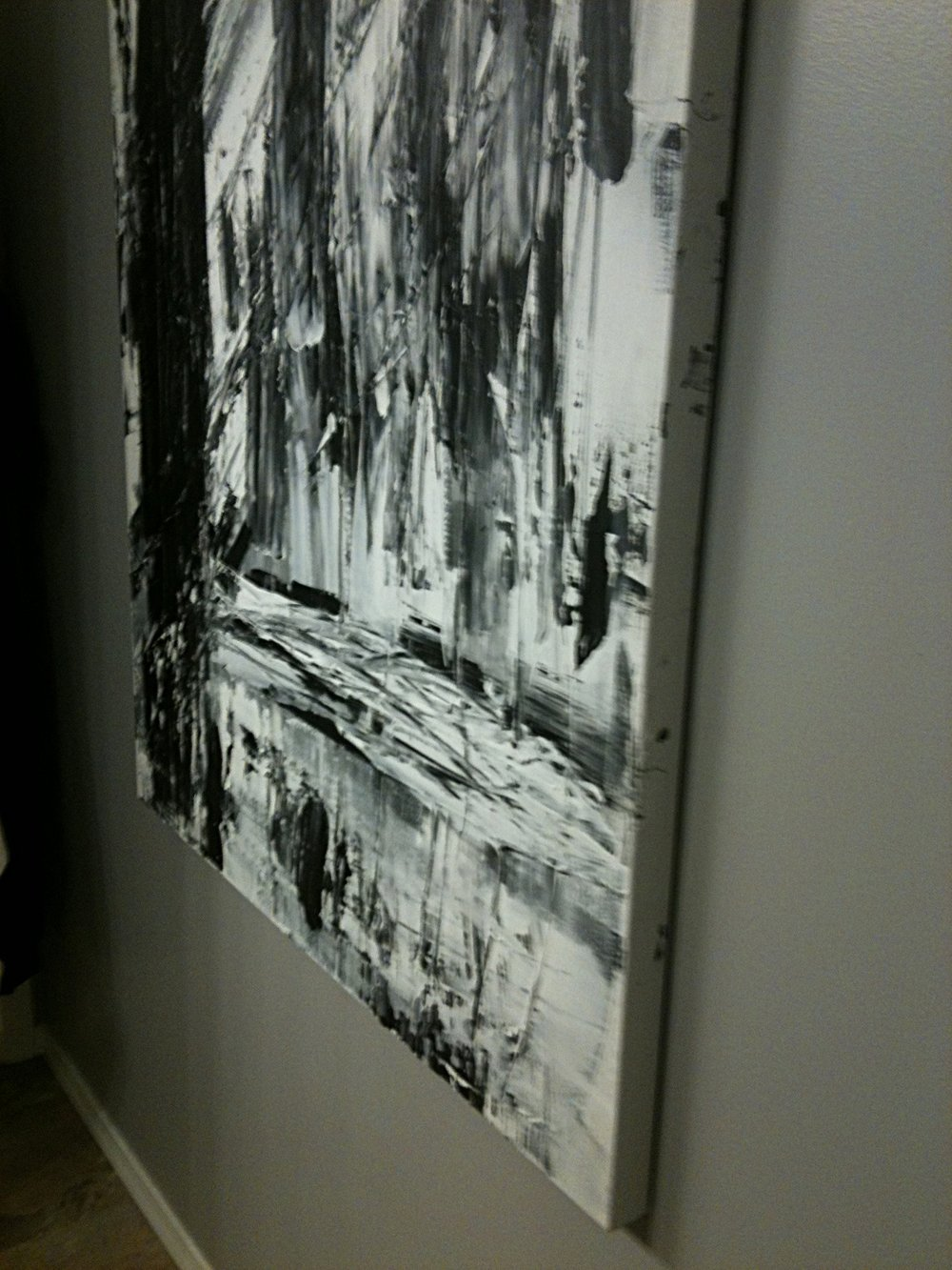 black and white series no. 1 / acrylic on canvas / 60 in. x 48 in.