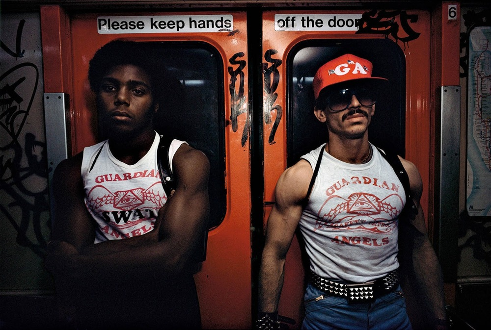 Guardian Angels on the New York City subway, 1980, Bruce Davidson