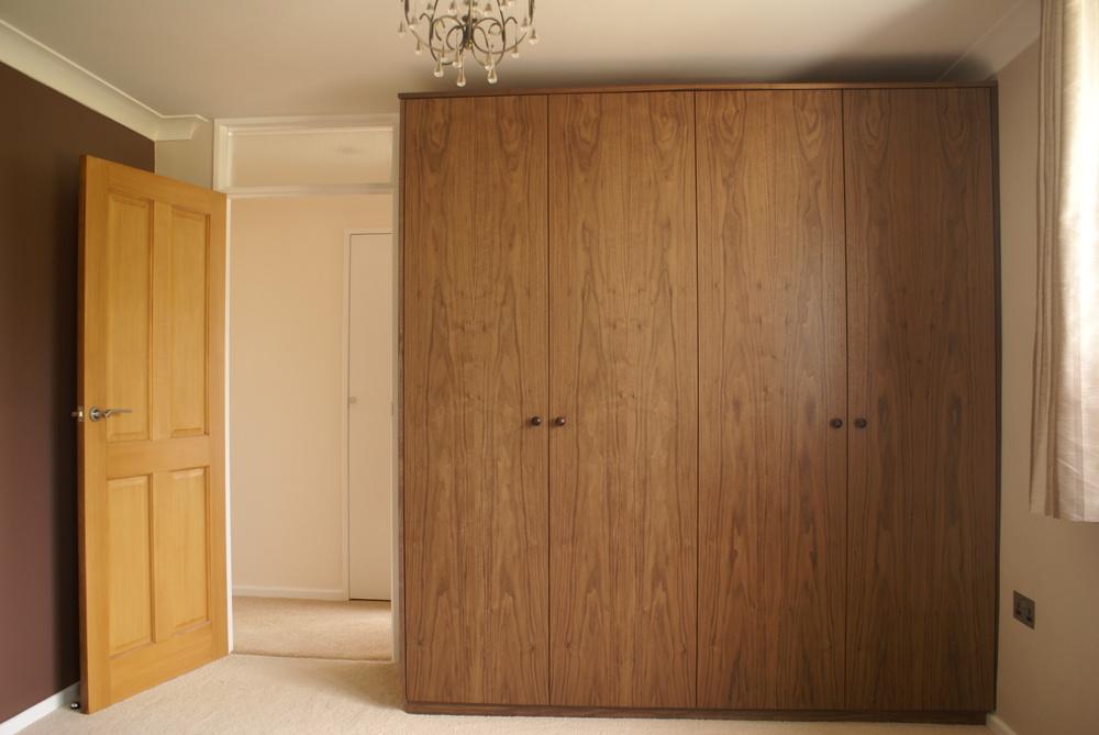 Back walnut wardrobe