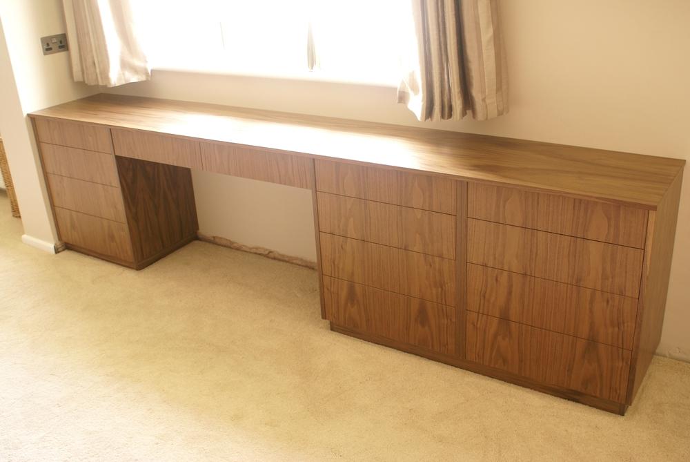 Black walnut dressing table