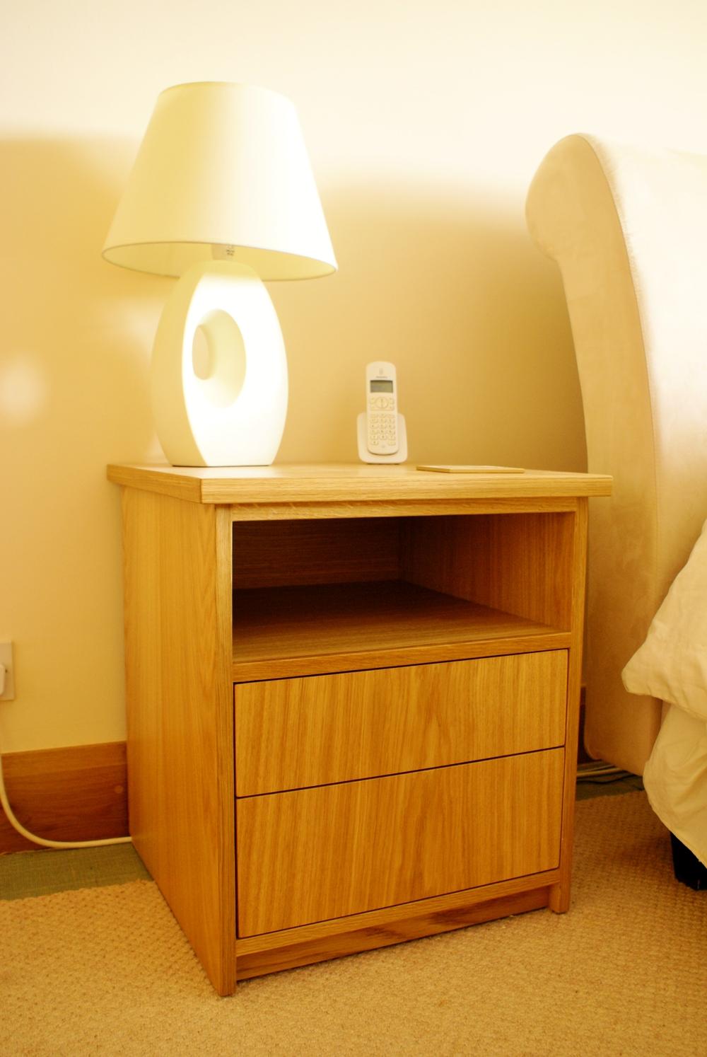 Oak bedside table