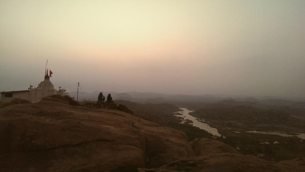 "hanuman temple at the top of anjaneya ""hill"""
