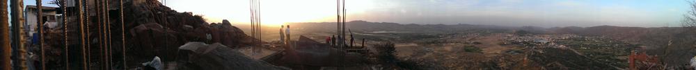 Construction on Savitri Temple, Pushkar