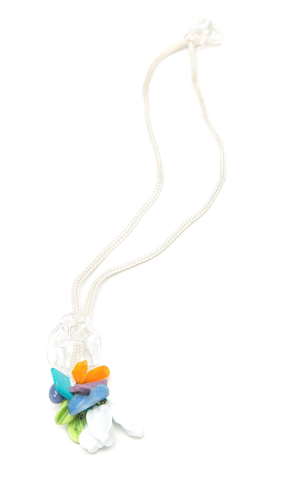 Mini Bundle  , Borosilicate, venetian glass, aqua resin, wood, milk paint, rope