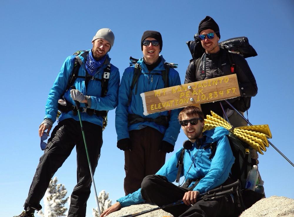 Soap Box, Pedi, Half and Half, and Quinoa at 10,800 ft atop Mt. San Jacinto.  photo/random nice couple