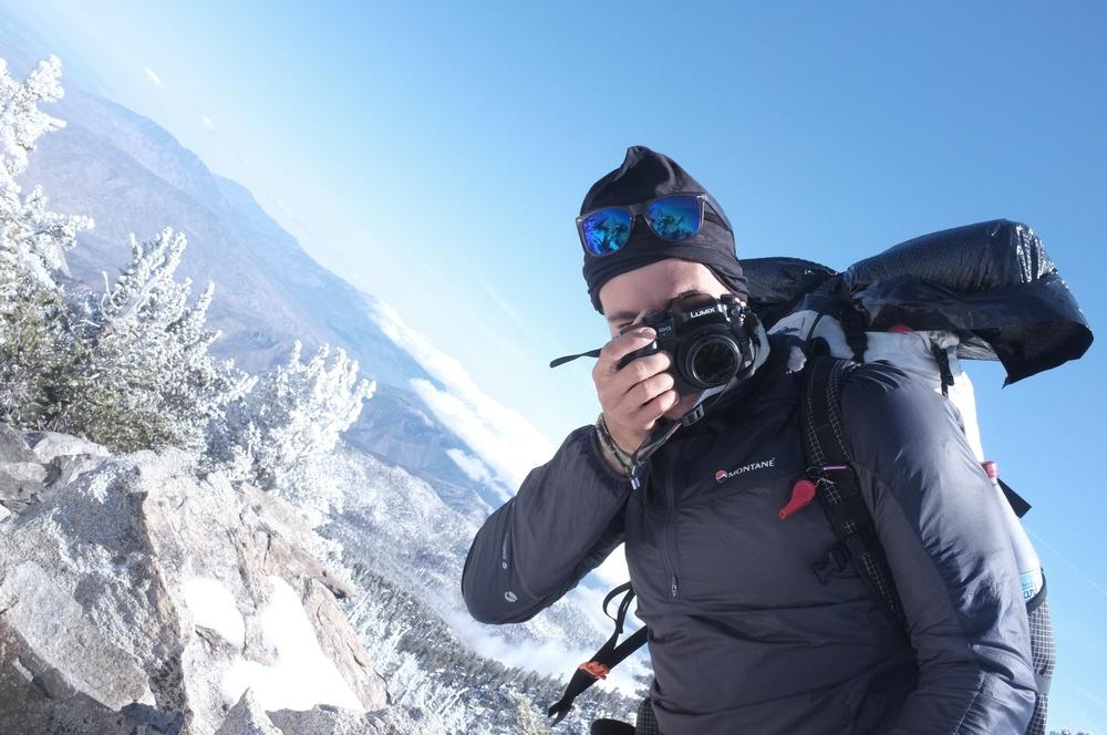Half and Half snapping photos at the summit of San Jacinto.