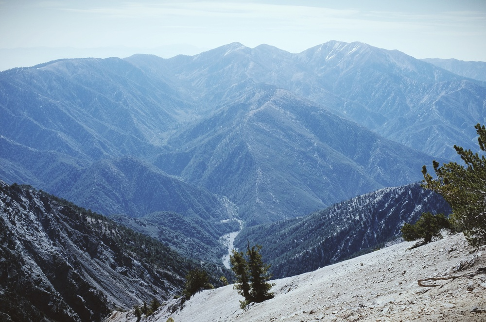 View from Baden Powell looking towards Mt. Baldy.