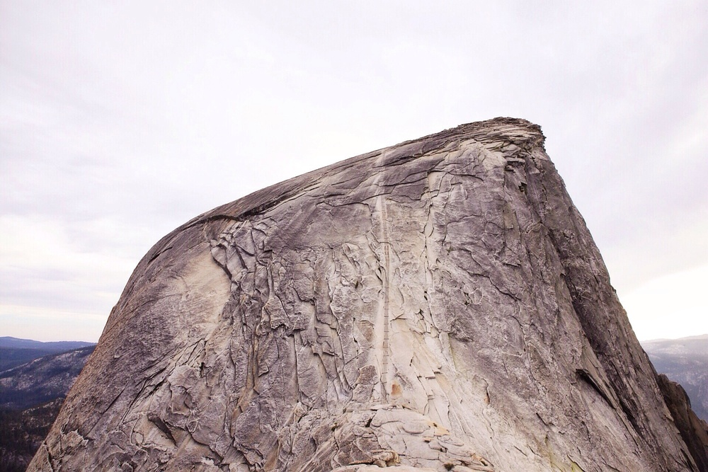 Our first view of the cables leading to the top if Half Dome. This moment instilled the most fear in me.