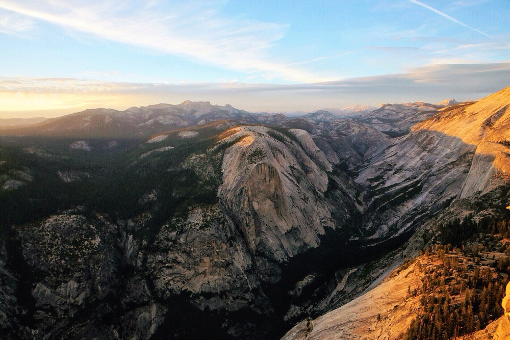 Looking north from Half Dome.
