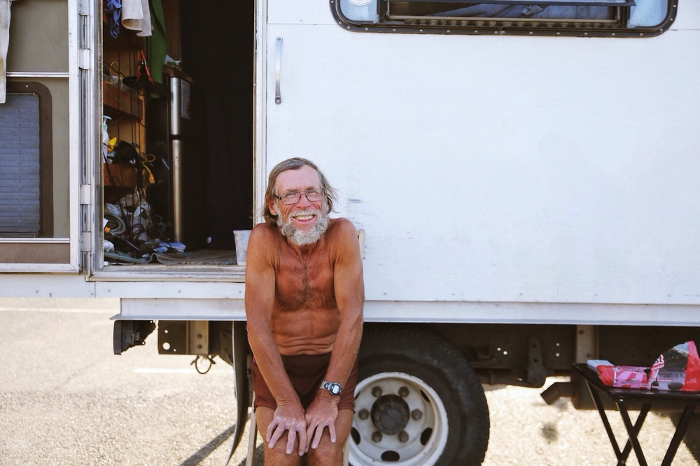 Coppertone, the always skirt-clad former thru-hiker that randomly shows up with his RV and ice cream floats. This dude is guaranteed to put a smile on any thru-hiker he passes.