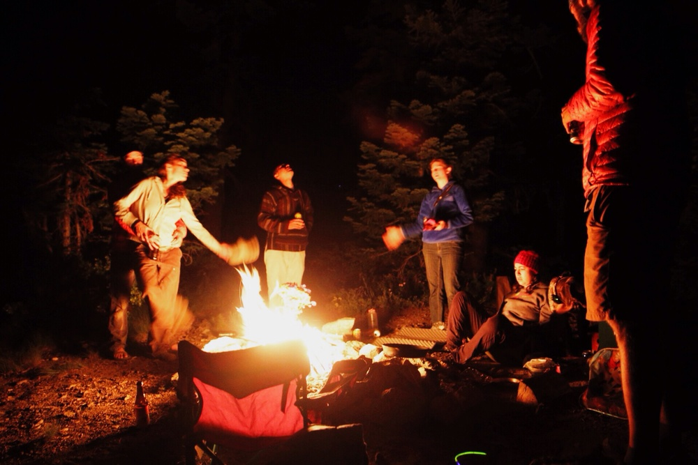 Good company and a campfire are a great start to an evening. Especially when they're unexpected.