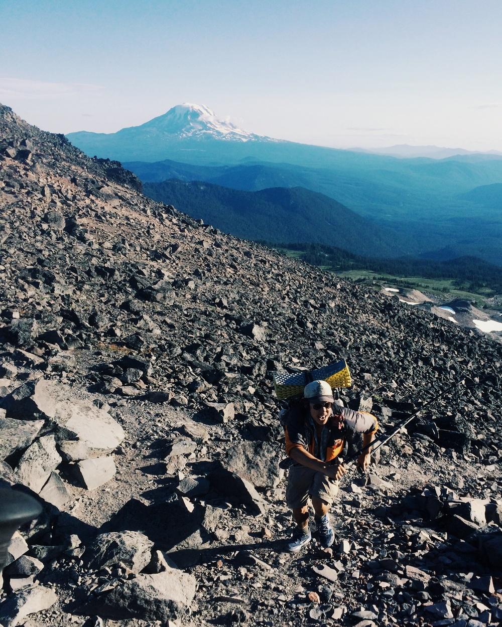 Mt. Adams in the back. Butttttttters on the way up! YOTOOOOoOooooooh