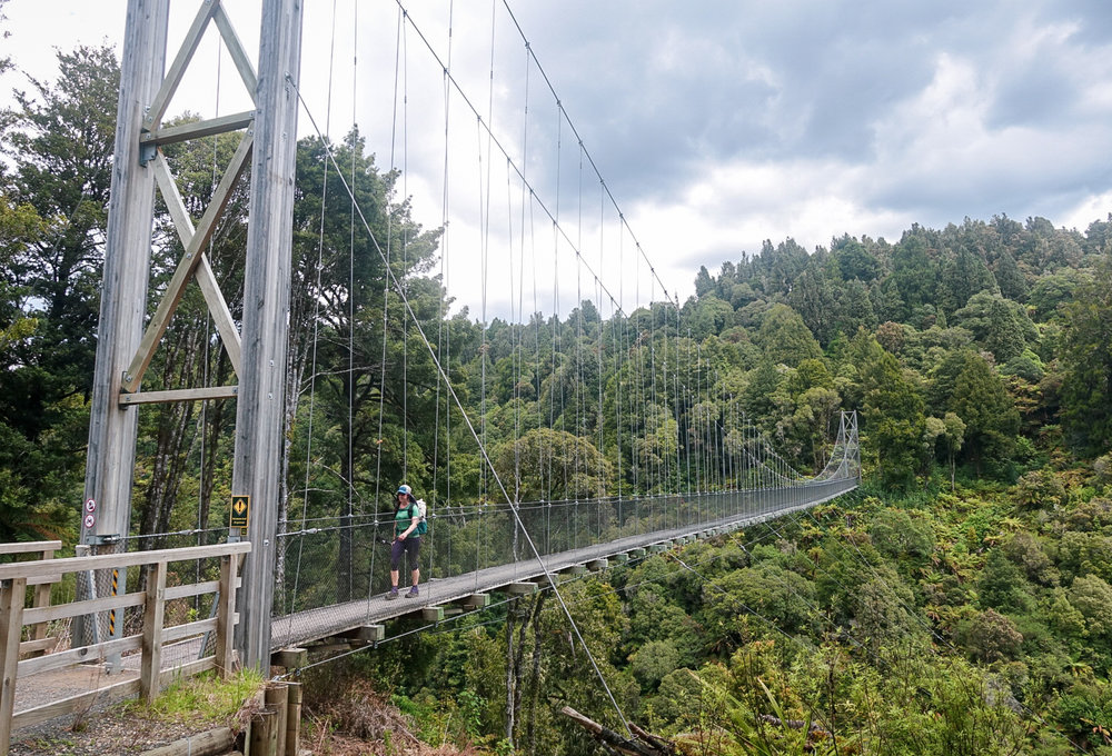 141 meter suspension bridge! So cool.   photo/ Jonathan