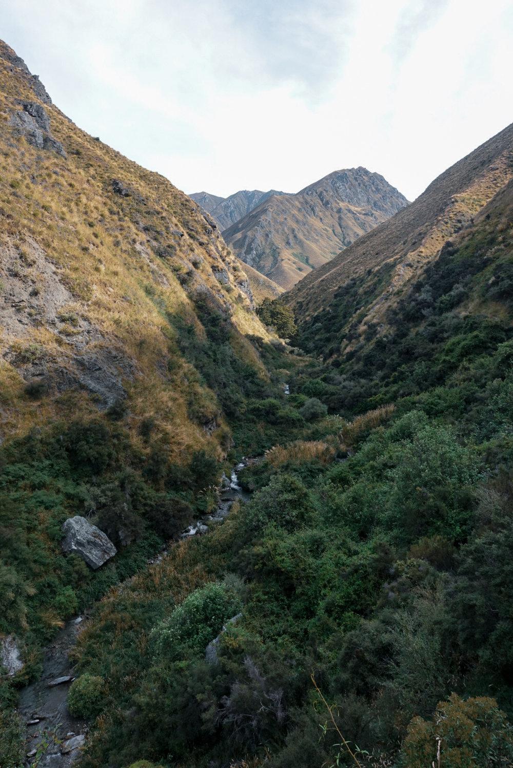 Heading up the Motatapu Track out of Wanaka.  photo/ Jonathan