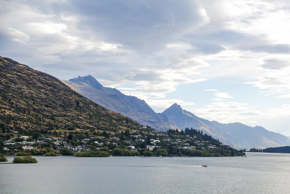 Lake Wakatipu, Queenstown, and the neighboring mountains  photo/ Jonathan
