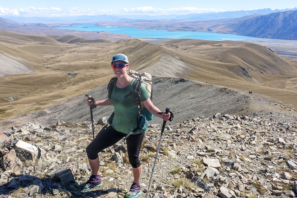 The incredible view from the ridge adjacent to Stag Saddle. Not only did we get to walk down the glorious trail along this ridge, the view of Lake Tekapo stretched out below us certainly added to the scene.   photo/ Jonathan